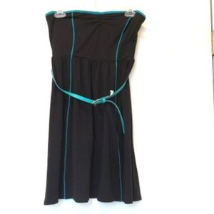 Xhilaration Black Strapless Dress w/ Belt